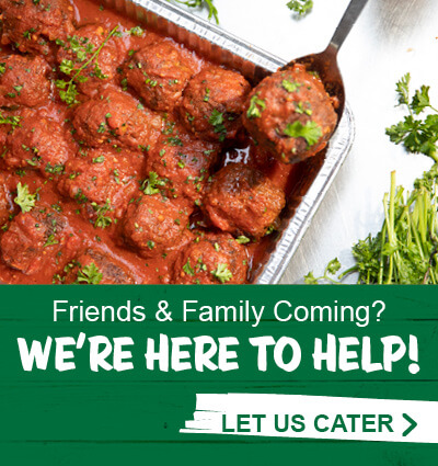 Friends and Family coming? We are here to felp! Let us cater. Click to Stews catering at stewscatering.com