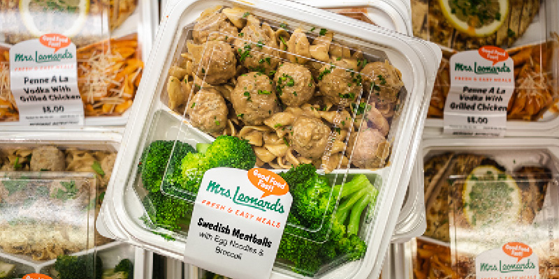 A photo showing a selection of Stew Leonard's freshly prepared Grab And Go Meals.