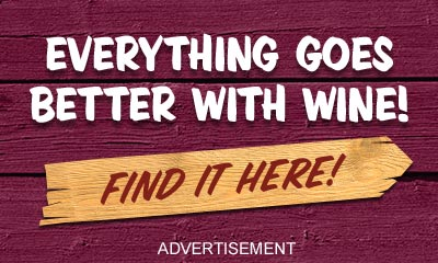 Everything goes better with Wine! Find it Here. Click to go to stewswines.com. Advertisement.
