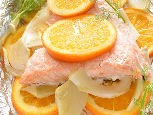 Salmon with Orange and Fennel
