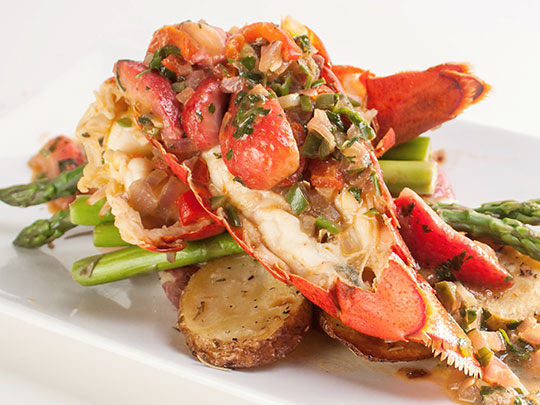 Lobster Tails with Strawberries